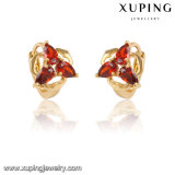 28230 Xuping Fashion Charm Heart-Shaped 18k Gold-Plated Earring Huggie