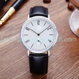 High Quality Ultrathin Steel Watches with Genuine Leather Watch 15150