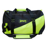 Durable Nylon Sport Bag with Contrast Neon Yellow Patch