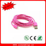 8pin USB Cable for iPhone5 Nylon Braid Lightning USB Cable