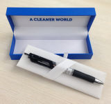 Customized blue Clamshell Pen Box
