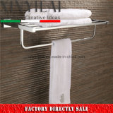 "Chrome Plate Brass 24"" Towel Rack for Bathroom Accessories"