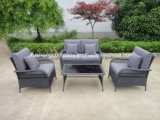 4 PCS of Steel Rattan Sofa Set