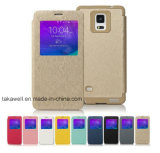Mobile Phone Accessory Luxury Leather Case Mercury for Samsung S5/S6 Cell Phone Cover Case