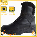 High Quality Durable Genuine Leather Black Military Boot