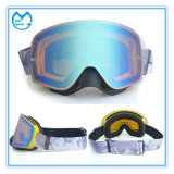Light Coated Skiing Mask Snow Glasses with Elastic Wide Band