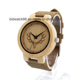 Japan Movement Bamboo Wood Watch with Deer Dial