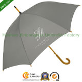 Advertising Printed Logo Straight Wooden Umbrellas for Promotional Gifts (SU-0023W)