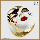 Wholesale Zinc Alloy Hand Made Enamel Gold Plating Costume Jewelry Ring