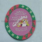 Round Soft PVC Rubber Glass Coaster