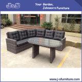 Outdoor Garden Furniture, High Backrest Premium Half Round Wicker Table & Chair Set (J400)