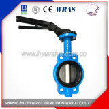 Industrial Ductile Iron Wafer Butterfly Valve with Wras Coated