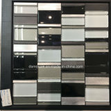 Classicail Black and White Glass and Stainless Mosaic Tile