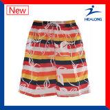 Healong Wholesale Customized Dye Sublimation Printing Beach Shorts