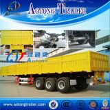 2 Axles Side Wall Open Semi Truck Trailer for Sale