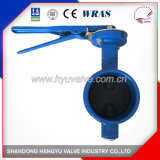 Grooved Wafer Type Butterfly Valve with Handlever with Blue Color
