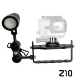 """Archon Light Weight Z10 One Hand Control with Two 1"""" Ball Attachment for Diving Equipment"""