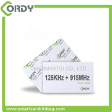 Cheap dual frequency 125kHz +915MHz RFID contactless smart card