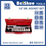 "13PCS Professional 1/2"" Drive Ratchet Wrench Socket Set"