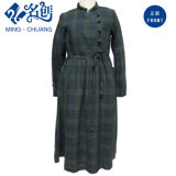 Fashion Plaid Ladies Dress Slip-on
