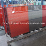 Serigraph Decorative Glass with Red Color
