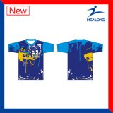 Healong Cheap Price Full Sublimation College T-Shirt