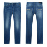 New Mens Slim Fit Straight Denim Jeans Trousers Blue Jeans
