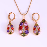 18k Gold Plated Xuping Synthetic CZ Jewelry Set (62150)