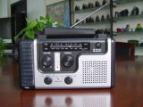 High Quality Am/FM Wave Band Solar Radio with Mobile Phone Charger Ht-998