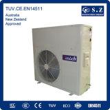 CE, TUV, Australia Certificate 220V 3kw, 5kw, 7kw, 9kw Cop4.2 Max 60deg. C R410A Split Portable Hot Water Heat Pump Tankless