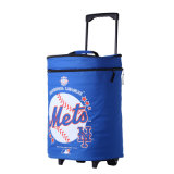 Wheel Rolling Trolley Insulated Thermal Picnic Cooler Bag