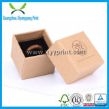 Hot Stamp Logo Printed Kraft Paper Jewelry Packaging Box for Gift