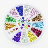 3mm 12 Colors Glitter Stone DIY Fancy Nail Art Rhinestone Wheel