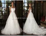 Spaghetti Lace Ball Gowns Court Train Wedding Bridal Dresses Z5057