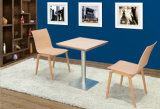 Wood Material 2 Person Dining Table Set (FOH-BCA86)