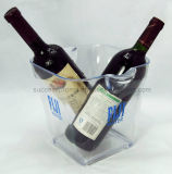 Large Transparent Acrylic Ice Bucket Beer Bucket with Handle