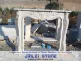 Customize White Classic Marble Stone Fireplace Mantel