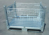 Folding Stackable Wire Mesh Metal Storage Stacking Container