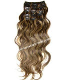 Hot 16 Inches 100% Brazilian Virgin Remy Hair Clip in Human Hair Extension