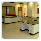 Professional Phenolic Resin Lab Desk with Locked Filing Cabinet