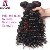 100% Top Quality Deep Wave Virgin Mongolian Curly Human Hair
