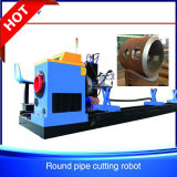 Low Cost Steel Tube CNC Plasma Cutting Machine for Piping Fabric