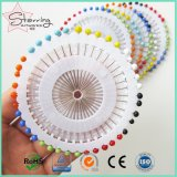 Decorative Colorful Round Glass Straight Head Pins
