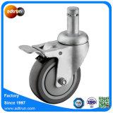 Grip Ring Stem Grey PU Wheel Casters