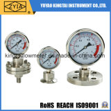 High Quality Stainless Steel Flange Diaphram Pressure Gauge