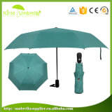 Strong UV Protect Pongee Black Gel Umbrella for Lady