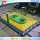 Giant Inflatable Volleyball Playgroud/Outdoor Volleyball Field Inflatable/Sport Air Jumping Mat