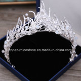 2018 Newest Customized Crystal Crown Wedding Glass Stonne Rhinestone Christmas Gift Tiaras Bridal Crown (BC06)