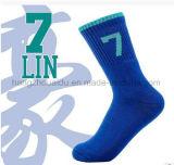 Fancy Comfortable Basketball Men Combed Cotton Socks