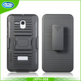 Anti-Slip Stripe Pattern Clip Holster Shell Case for Alcatel 5025 with Car Phone Holder